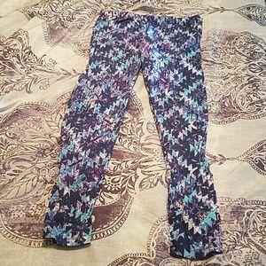 Blue and purple leggings
